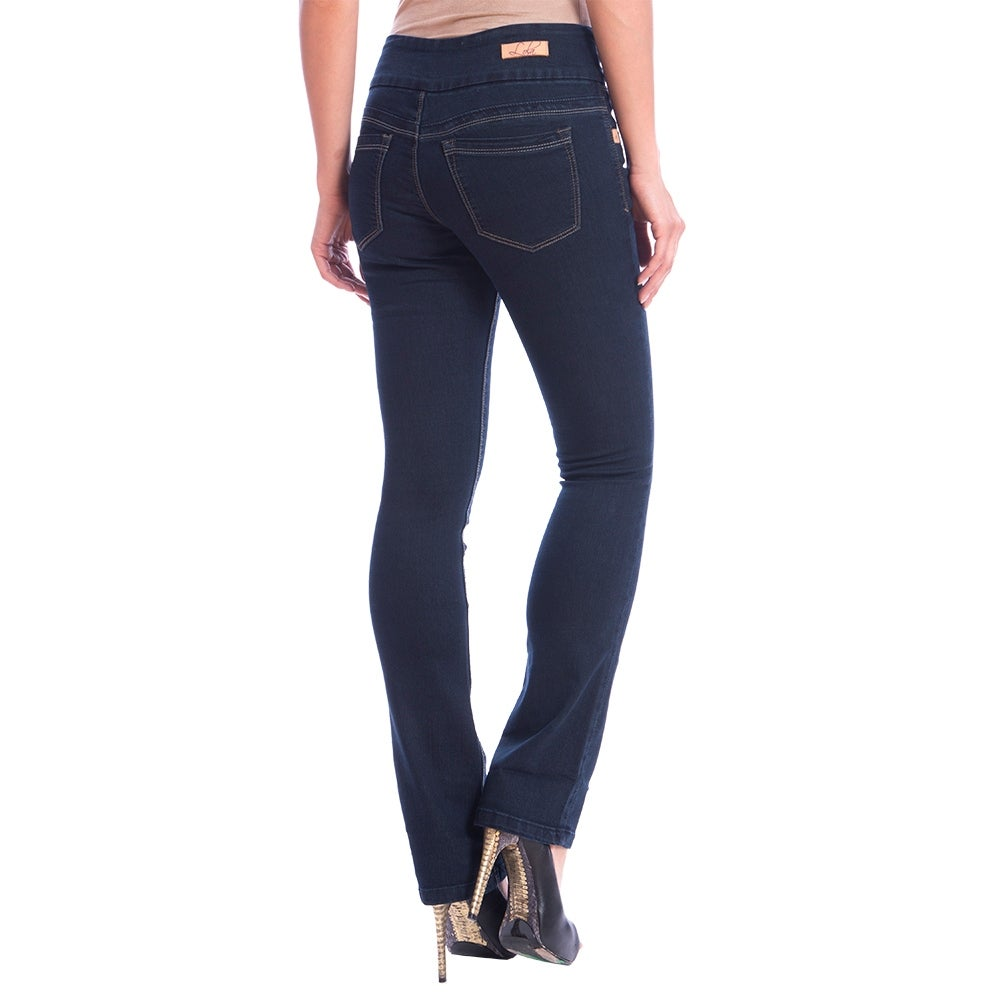 DISCONTINUED Lola Pull On Bootcut Jeans, Leah-RB - Thumbnail 1