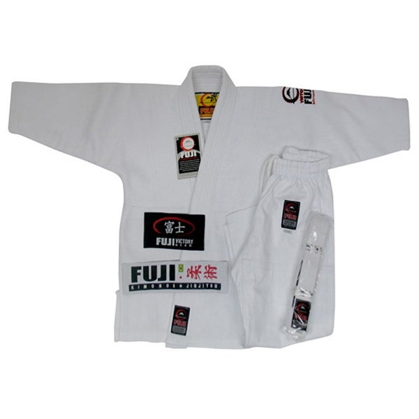 005e31fc08d2 Shop Fuji All Around BJJ Kids White Gi (Single Weave) - Free ...