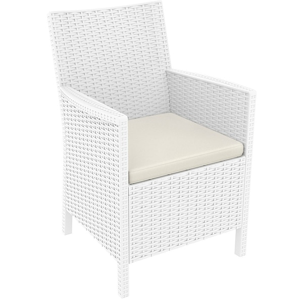 California Resin Wickerlook Chair (Set of 2), White