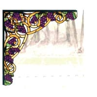 Meyda Tiffany 67141 Stained Glass Tiffany Window from the Grapes Collection - n/a