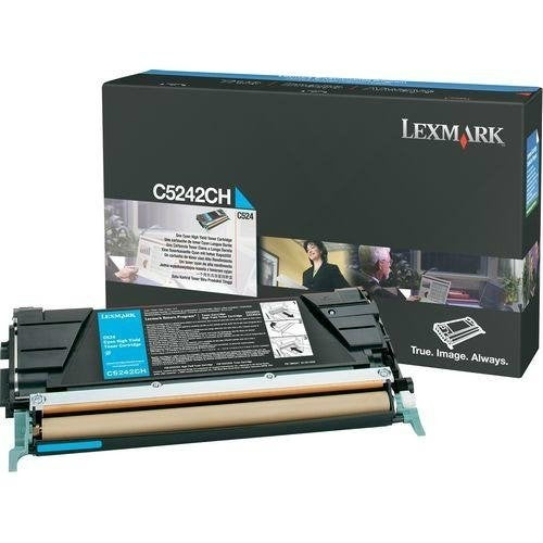 Lexmark C5242CH High Yield Cyan Toner Cartridge For C534dn / C532n - 5000 Pages
