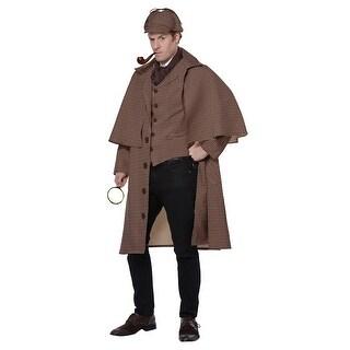 Mens Sherlock Holmes Detective Ultimate Costume