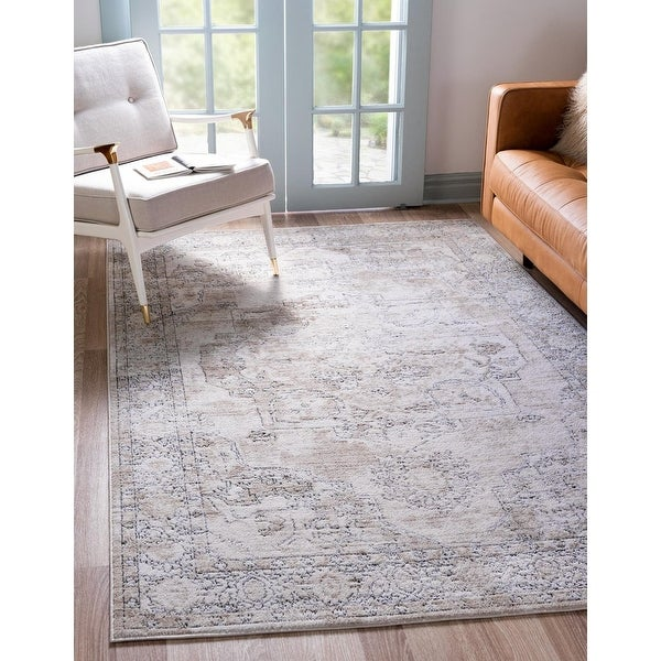 Porch & Den Reeves Distressed Floral Medallion Area Rug. Opens flyout.