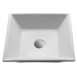 "Miseno MNO-17-SQV 16"" Vitreous China Vessel Bathroom Sink - Pop-Up Drain Included"