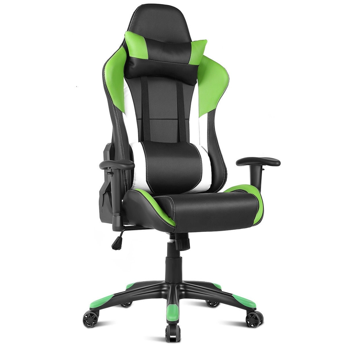 Cool Costway Ergonomic High Back Racing Style Gaming Chair Recliner Executive Office Computer Green Alphanode Cool Chair Designs And Ideas Alphanodeonline