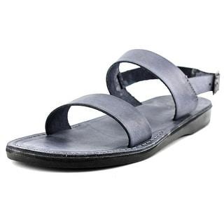 Jerusalem Sandals Golan Open-Toe Leather Slingback Sandal