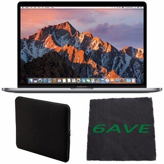 "Apple 15.4"" MacBook Pro with Touch Bar (Space Gray) #MPTR2LL/A + Padded Case For Macbook + Fibercloth Bundle"