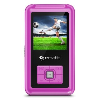 Ematic Em208vidpn  1.5-Inch 8Gb Mp3 Video Player With Fm Tuner, Pink