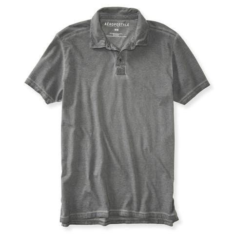 Aeropostale Mens Dyed Rugby Polo Shirt