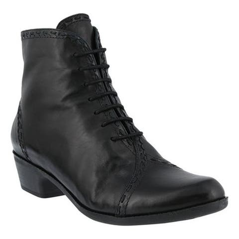 Spring Step Women's Jaru Bootie Black Leather