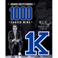 3760b9041cc Mike Krzyzewski signed Duke Blue Devils Tribute 16x20 Photo 1000th Win  12515 Coach K Steiner Hologr