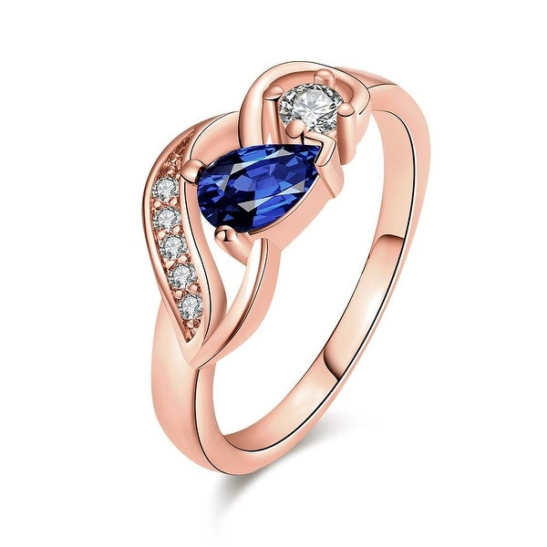Petite Saphire Gem Rose Gold Ring