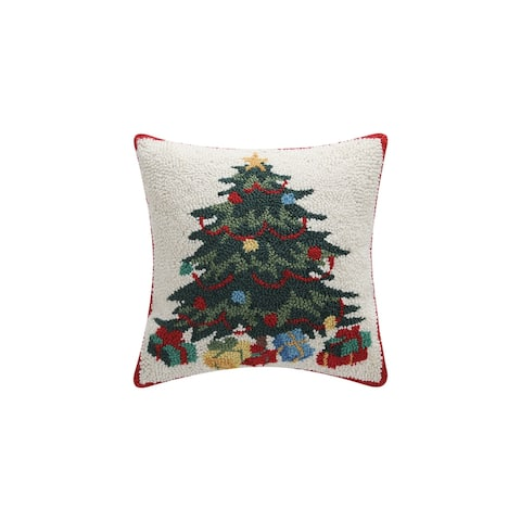 Tree with Presents Hook Pillow