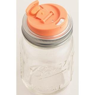 Jarware 82615 Mouth Drink Lid, Plastic, Orange