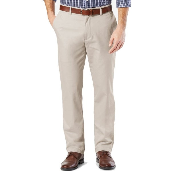 Dockers Mens Signature Khaki Pants Beige Size 38x32 Straight Fit Stretch. Opens flyout.