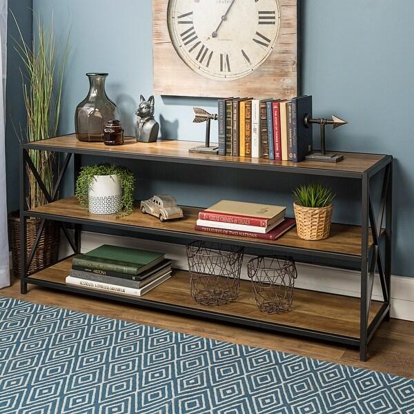 Carbon Loft Hattie 60-inch X-frame Bookshelf. Opens flyout.