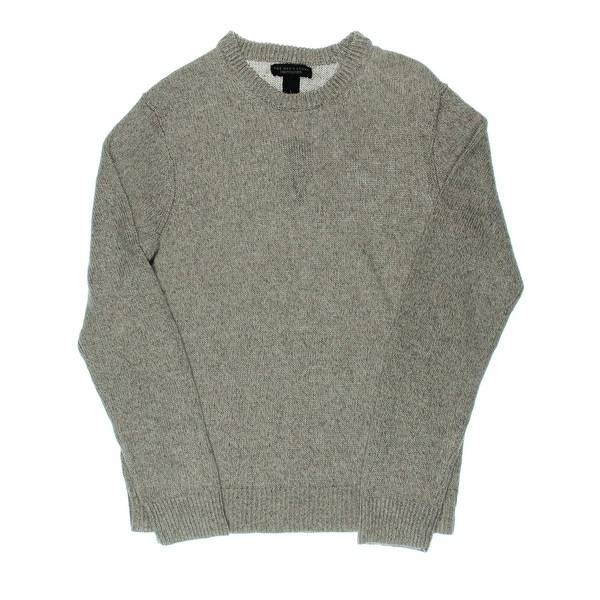 The Men's Store Mens Linen Knit Crewneck Sweater