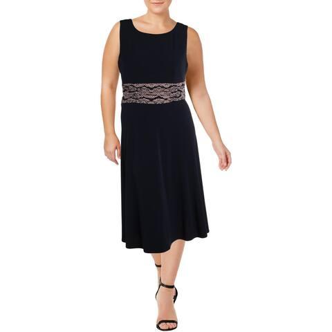Jessica Howard Womens Plus Wear to Work Dress Printed Sleeveless - 16W