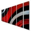 Statements2000 Red / Black Modern Metal Wall Art Painting by Jon Allen - Critical Mass - Thumbnail 5