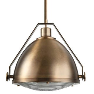 "Park Harbor PHPL5571 15"" Wide Single Light Single Pendant with Industrial Style Shade"
