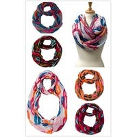 Lots of 12 Lightweight Oblong Scarves and Infinity Scarves - oblong 68 in x 35 in