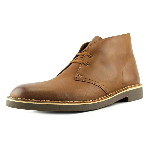 Clarks Bushacre 2 Men Round Toe Leather Tan Chukka Boot