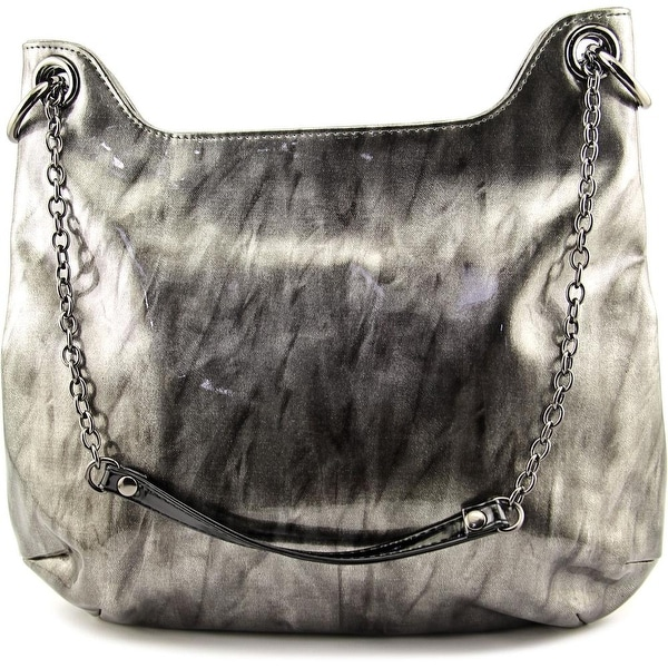 J. Renee Marble Patent Women Synthetic Tote - Silver