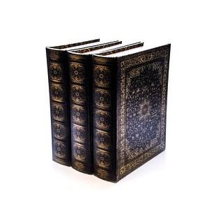 Bellagio-Italia Olde World Persian DVD, CD Book Box 3 pack - holds 144 Discs