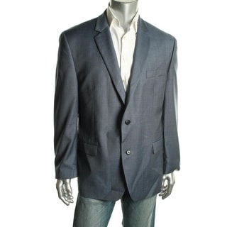 Shaquille O'Neal Mens Big & Tall Wool Notch Collar Sportcoat