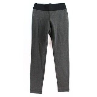 INC NEW Gray Black Women's Size 12 Pull On Skinny Leg Ponte Pants