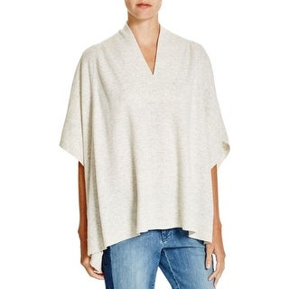 Vince Womens Poncho Sweater Wool Heathered