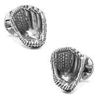 Sterling Silver Baseball Glove Cufflinks