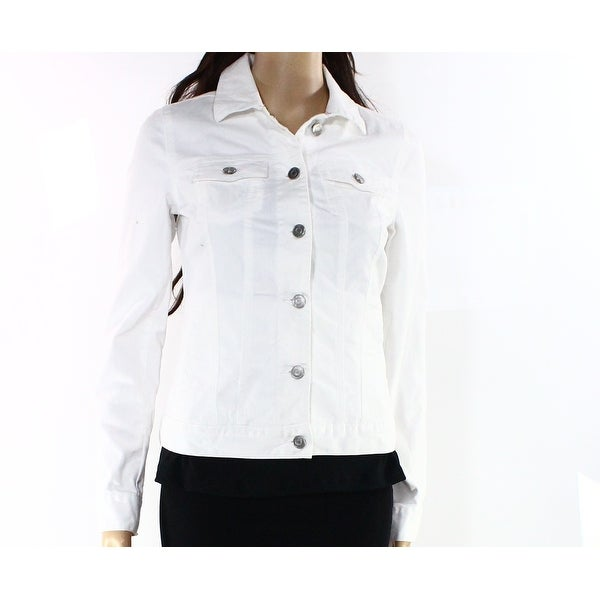 69740855a53 Shop Tommy Hilfiger NEW White Women s Size XS Button-Front Jean Jacket -  Free Shipping On Orders Over  45 - Overstock - 18288379