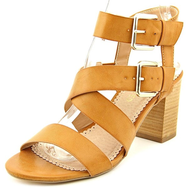 Restricted Kick Off Women Open Toe Synthetic Tan Sandals