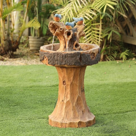 Cement/Resin Blue Birds and Tree Outdoor Fountain