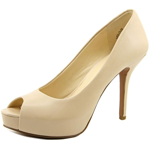 Nine West QTPie Open Toe Synthetic Platform Heel
