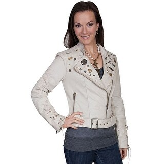 Scully Western Jacket Womens Leather Suede Fitted Zipper L220