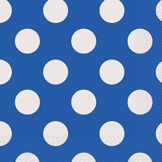 """Luncheon Napkins 6.5""""X6.5"""" 16/Pkg-Royal Blue Decorative Dots"""