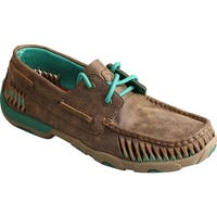 Twisted X Boots Women's WDM0083 Driving Moc Bomber/Turquoise Leather