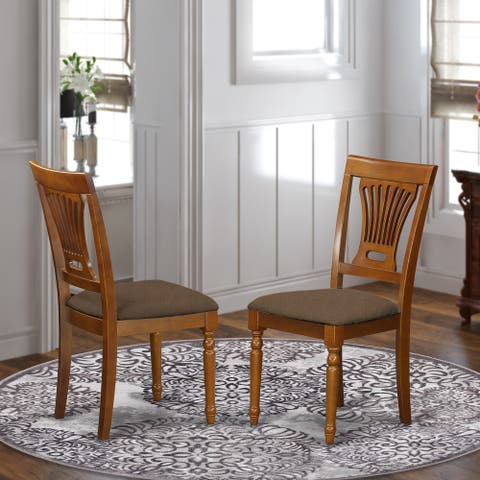 Plainville Saddle Brown Dining Chair (Set of 2)