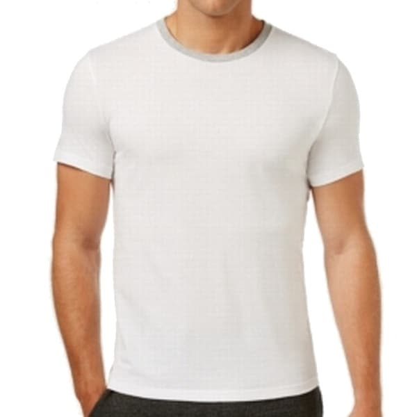 Kenneth Cole Reaction NEW White Mens Size Large L Ringer Tee T-Shirt