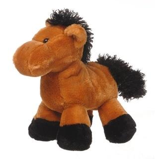 Gift Corral Western Toy Kids Plush Stuffed Animal Horse Beige 87-8320