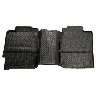 Husky Classic 2001-2007 GMC Sierra 2500 HD ExtCab 2nd Row Black Rear Floor Mats/Liners