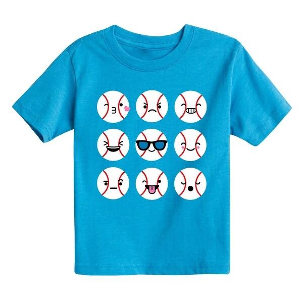 Baseball Emojis - Toddler Short Sleeve Tee