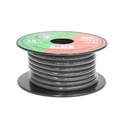 8 Gauge Black Ground Wire 25 ft. OFC