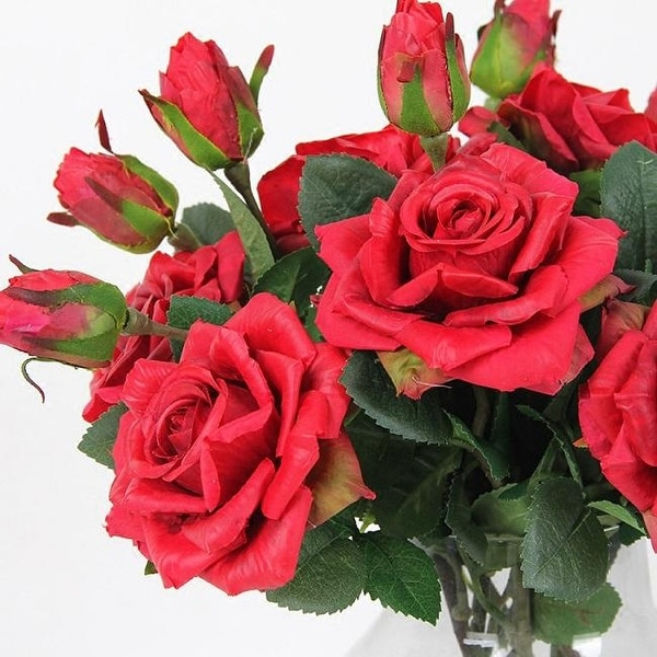 "FloralGoods Real Touch Rose Stem in Red 19"" Tall"