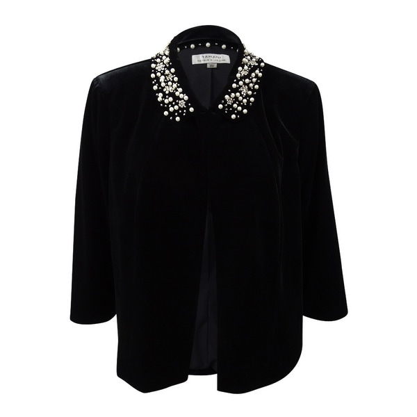 d553ca9ea25 Shop Tahari ASL Women s Plus Size Beaded-Collar Cropped Jacket (20W ...