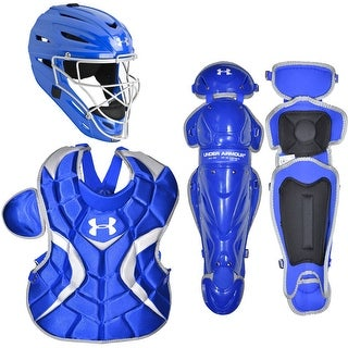 Under Armour Baseball PTH Victory Catching Kit (Royal Blue, Senior Size / Ages 12-16)