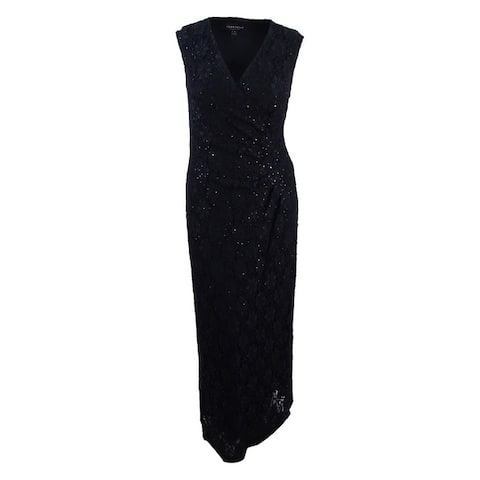 Connected Women's Sequined Lace Gown