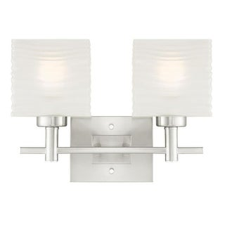 "Westinghouse 6303900 Alexander 16"" Wide 2 Light Bathroom Vanity Light with Glass Shades - Grey"